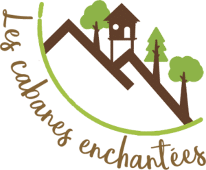 logo cabanes enchantées arbres saint léger les mélèzes hautes alpes champsaur